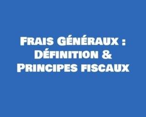 frais generaux definition