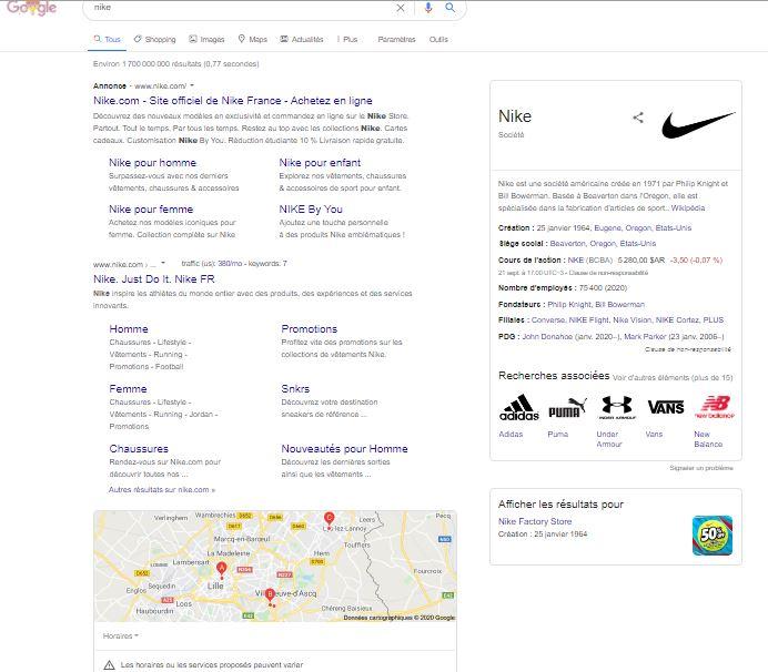 La serp de Nike (SEM)